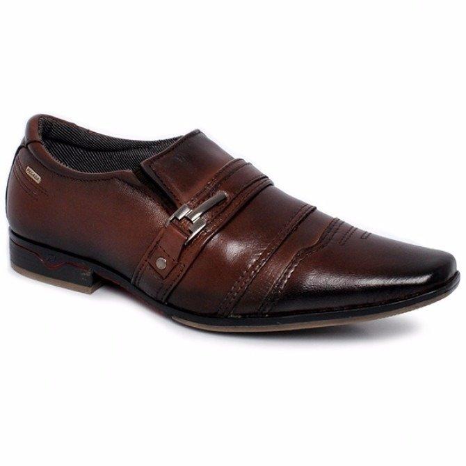 0bbd685218 Sapato Social Masculino Pegada Couro Pinhão 22226-02