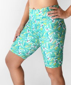 Short Bermuda fitness Estampada Yoga Verde