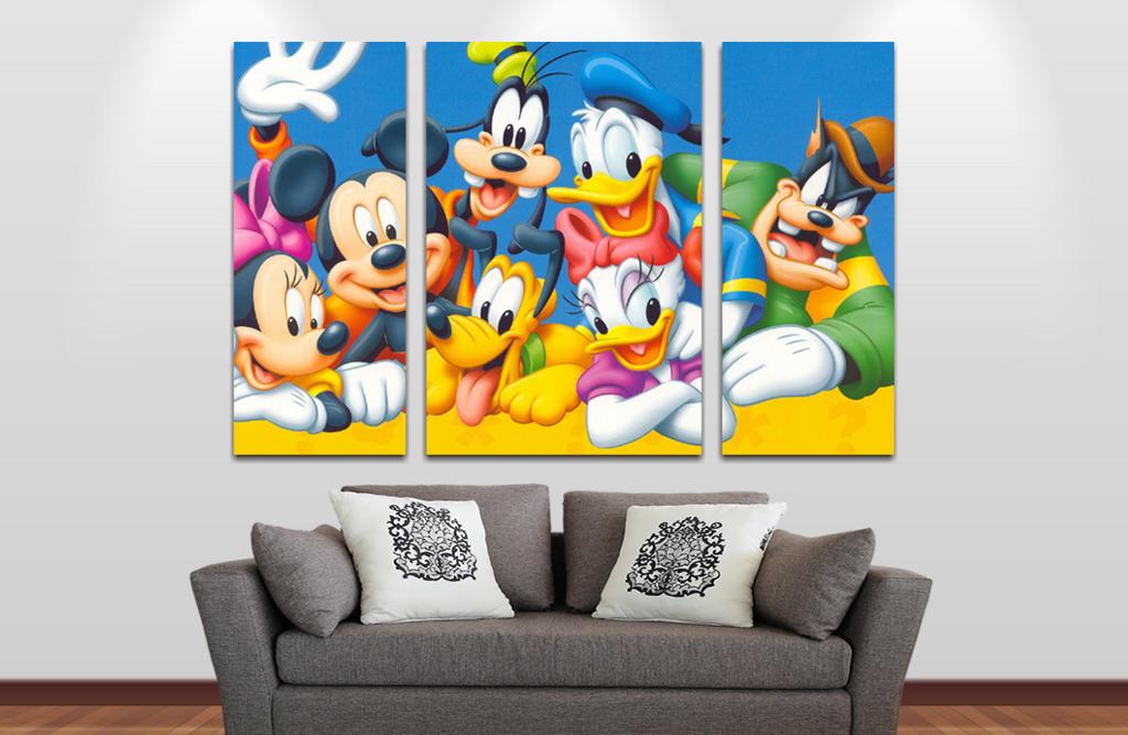 Mickey y sus Amigos 2  90x60cm