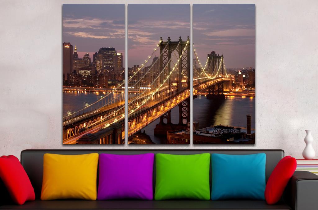 Paisaje Puente Manhattan 90x60cm