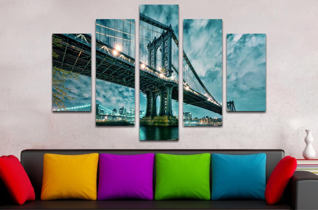 Paisaje Puente Manhattan 2 110x70cm
