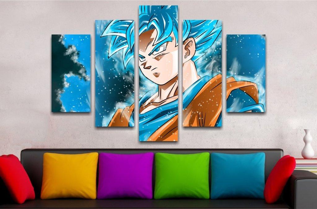 Goku Dios Azul 110x70cm
