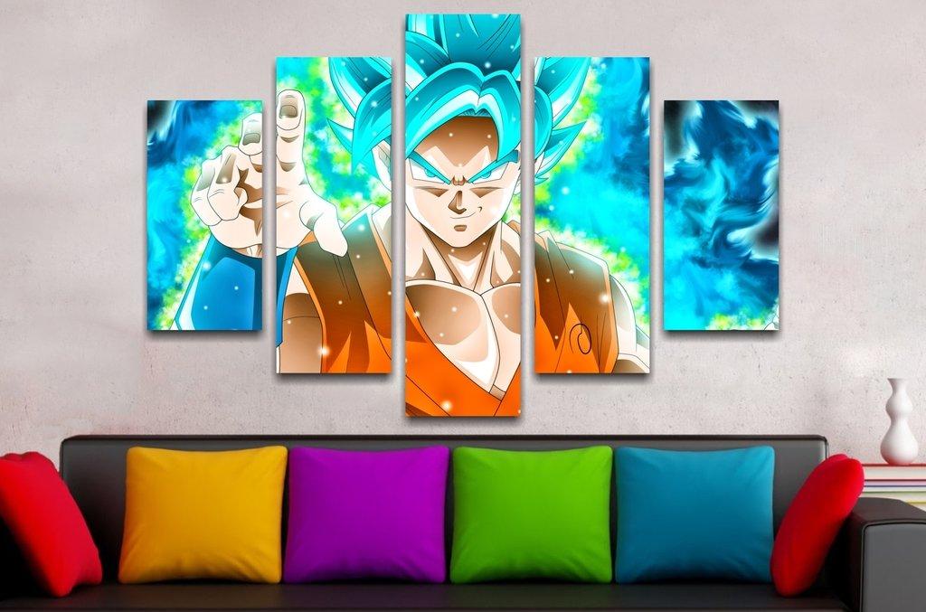 Goku Blue 110x70cm