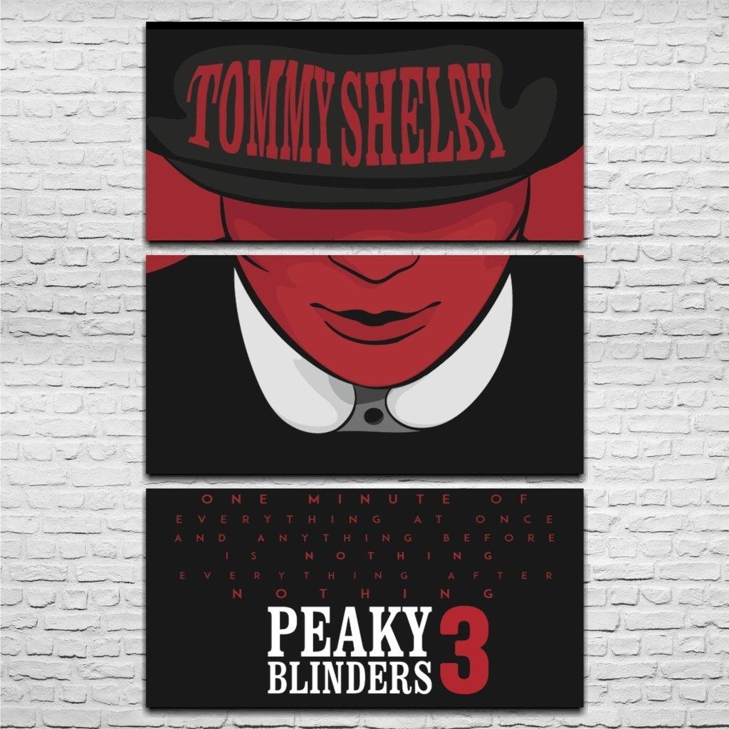 Cuadro Triptico Peaky Blinders 5