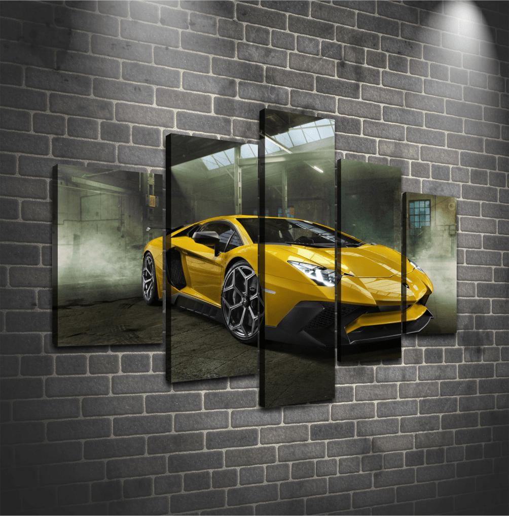 Cuadro Poliptico Lamborghini