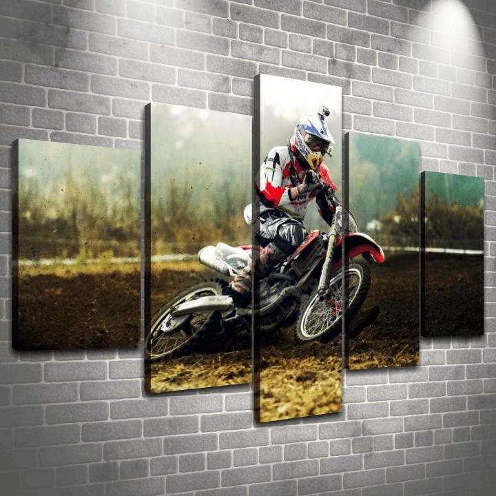 Cuadro Poliptico Motocross 1