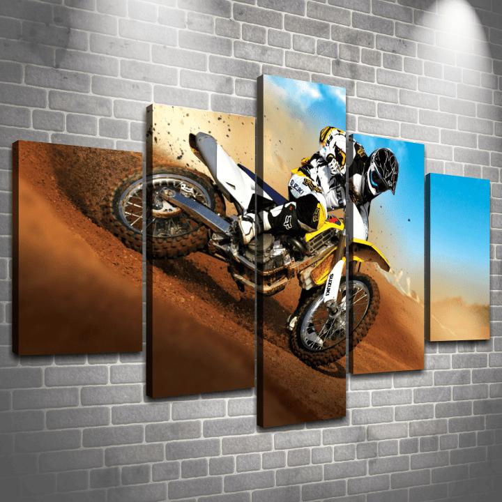 Cuadro Poliptico Motocross 3