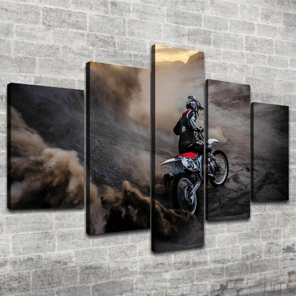Cuadro Poliptico Motocross 8
