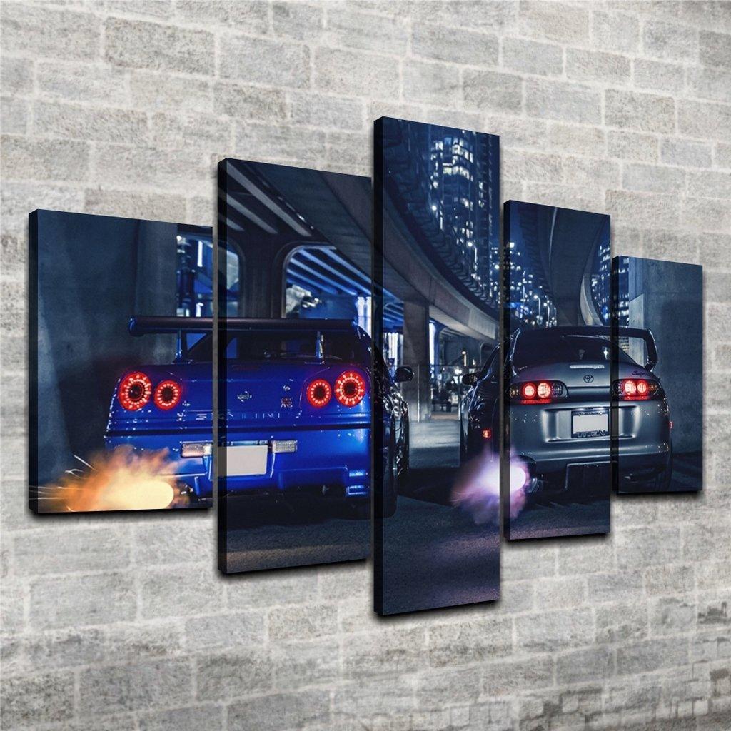 Cuadro Poliptico Nissan GTR y Supra