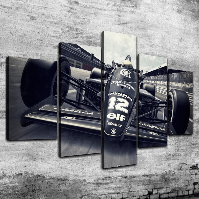 Cuadro Poliptico Lotus F1