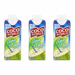KIT C/3 UN ÁGUA DE COCO INTEGRAL COCO DO VALE 330ml