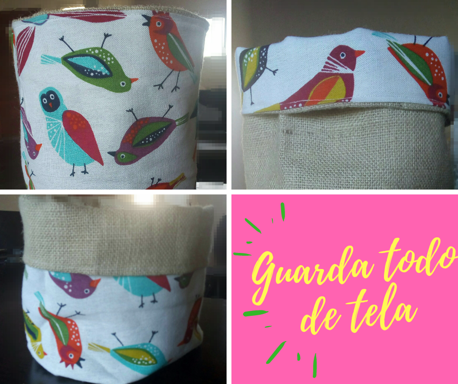 Guarda todo de tela-reversible