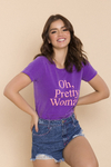 T-SHIRT PRETTY WOMAN ROXO VIOLETA