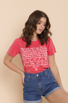 T-SHIRT ROUTE 66 LIVING CORAL