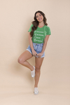 T-SHIRT PLAY HAPPINESS VERDE BANDEIRA RMN