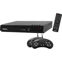 DVD GAME PHILCO PH150 - ENTRADA USB, FUNÇÃO GAME COM 02 JOYSTICKS, REPRODUZ MP3, WMA, JPEG E MPEG - UNICA