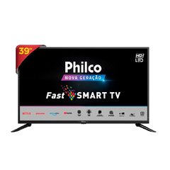 "Smart TV LED 39"" Philco PTV39G50S - Resolução HD, DTV, Wi-Fi, NetFlix, HDMI e USB - EletromoveisClauro"