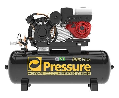 Ônix Press - 20/200 VE - Pressure - 5HP - 200 Litros - Diesel