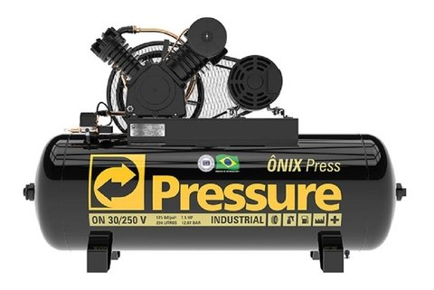 Ônix Press - 30/250 V - Pressure - 7.5HP - 250 Litros