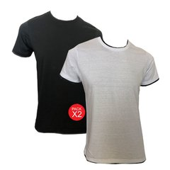 ART 11742 REMERA DOBLE CUELLO COMBINADA ESC O. PACK 2 - comprar online