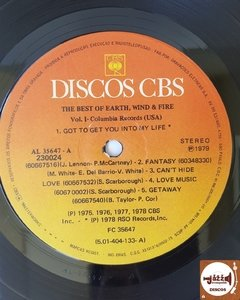 Earth Wind & Fire - The Best Of Vol. 1 (Capa dupla c/ encarte) - Jazz & Companhia Discos