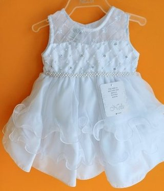 024e0673e1 Vestido De Batizado Festa Casamento Bebe Infantil Branco