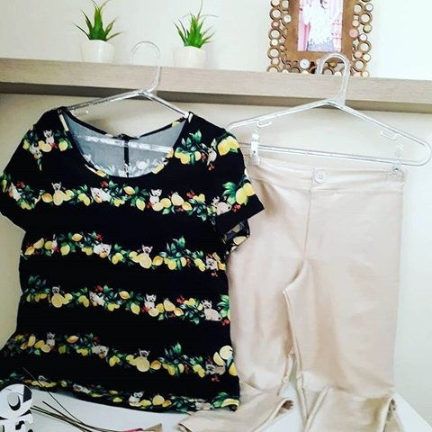 blusa estampa citricos