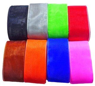Kit de Fita de Organza multicolorido 38m......