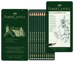 Set Faber-Castell 12 lapices grafito 9000 8B a 2H