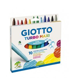 Marcadores GIOTTO 10 colores TURBO MAXI