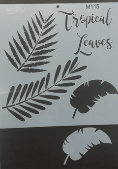 Stencil Monitor M115 Tropical Leaves