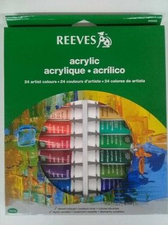 Set 24 acrilicos REEVES 10ml
