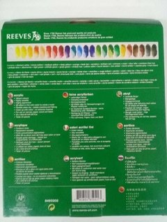 Set 24 acrilicos REEVES 10ml - comprar online