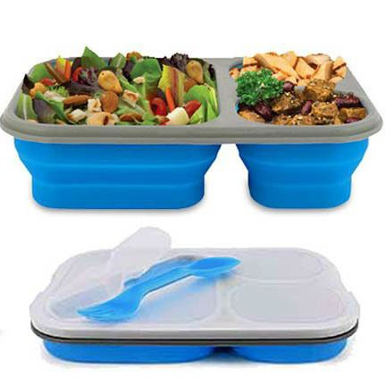 Lunchera Plegable Color Azul