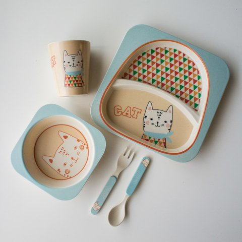 Eco Kids Set 5 piezas Cat