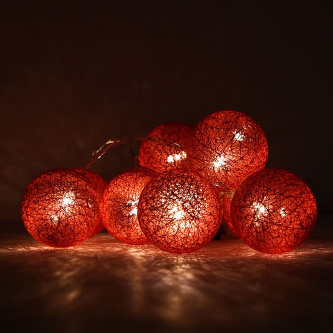 10 Bolas LED | Red