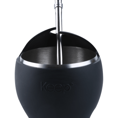 Mate de acero KEEP negro