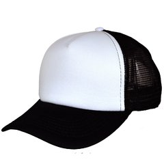 CAP TRUCKER STYLE PLAIN FRENTE BLANCO