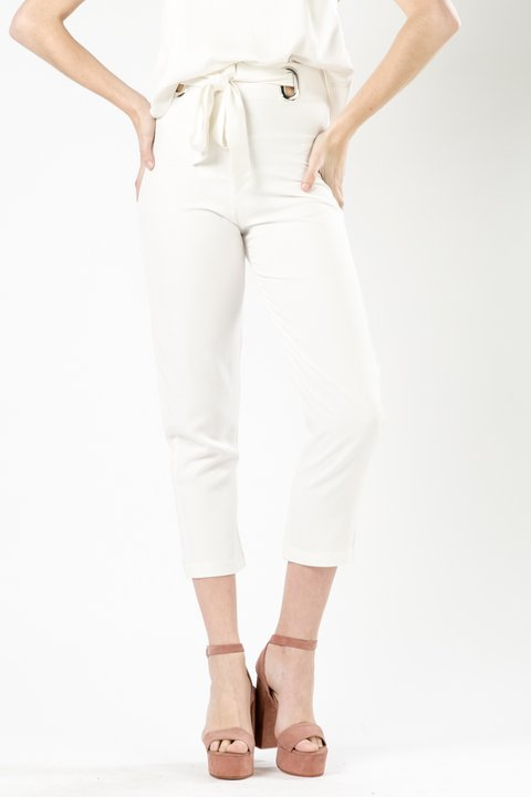 PANTALON METAL LIRIO OFF WHITE