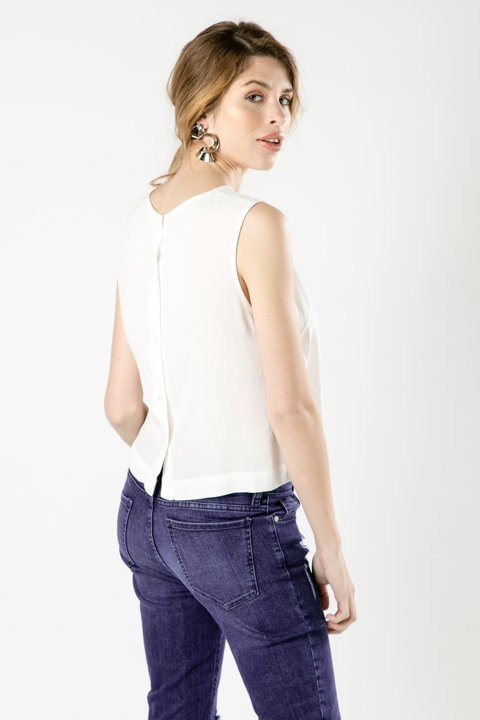 TOP CORTO SAKURA OFF WHITE