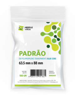 SLEEVES - PADRÃO BLUE CORE (63,5 X 88 MM)