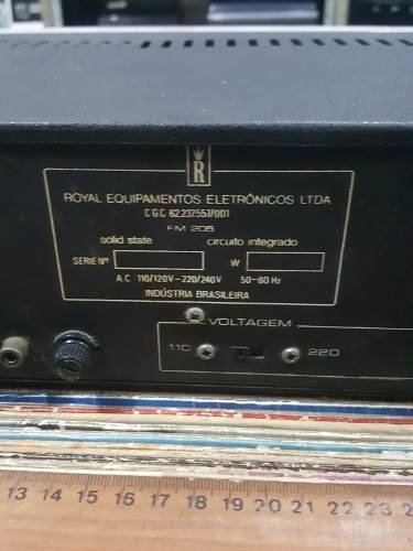 Imagem do Receiver Marca Royal Modelo Fm 205