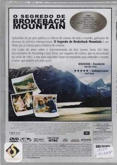 Dvd O Segredo De Brokeback Mountain (50)  - comprar online