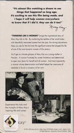 Vhs Thinking Like A Woman The Life And Times Of Marykay (51) - comprar online