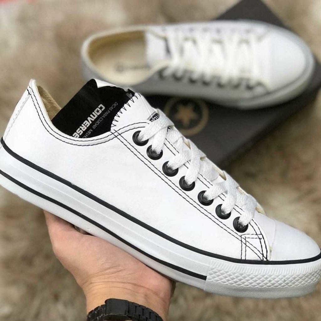 4cb0b943f55 All Star branco couro - Comprar em Tênis SP