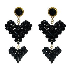 BRINCO LISTEN TO YOUR HEART BLACK BEADS