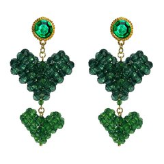 BRINCO LISTEN TO YOUR HEART GREEN BEADS