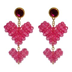 BRINCO LISTEN TO YOUR HEART PINK BEADS