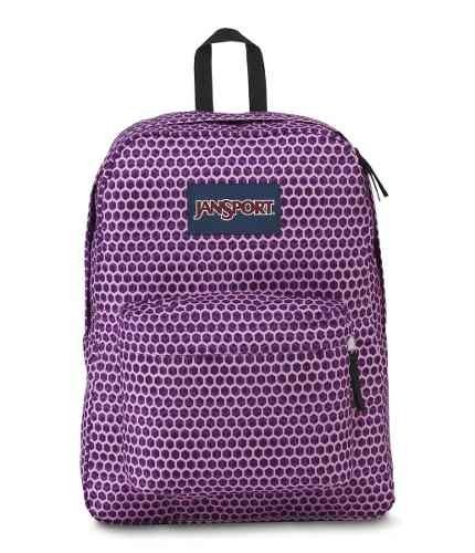 Mochila Jansport Superbreak Urban Optical Purp Js00 T501-3g6