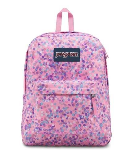 Mochila Jansport Superbreak Pink Sparkle Dot Js00 T501-4z8